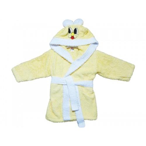 Халат за малки деца 100% Памук Beige Bunny