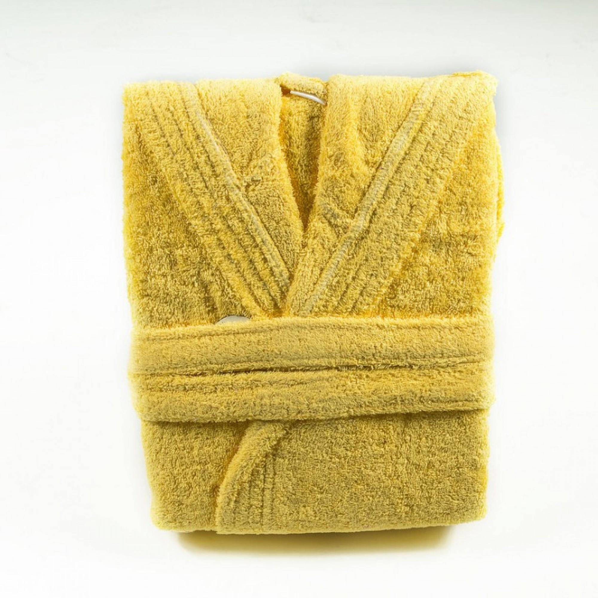 "Халат с качулка ""Yellow Mood"" - 100% Памук"