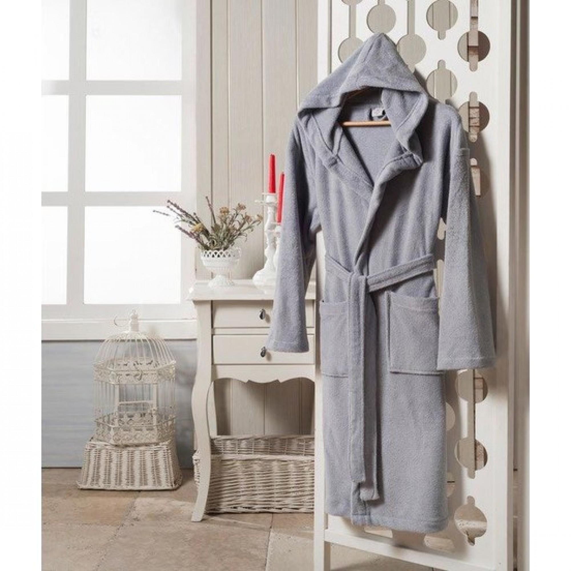 Халат с качулка Grey Style - 100% Памук