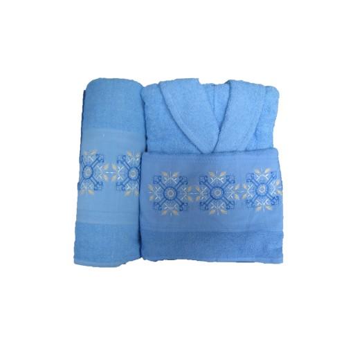 Луксозен комплект Melisa халат и кърпи