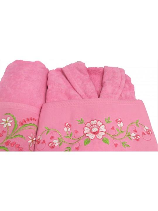 Луксозен комплект хавлия и кърпи Melisa Pink Dreams