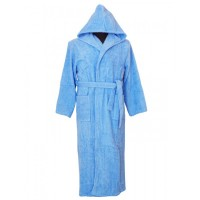 Юношески халат с качулка SOFTNESS BLUE – 100% Памук