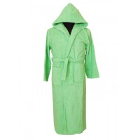 Юношески халат с качулка SOFTNESS GREEN – 100% Памук