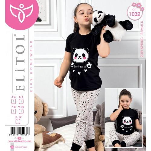 Детска пижама за момиче Panda Mood