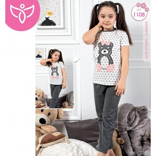 "Детска пижама за момиче ""Sweet Bear"" - Мама и аз"