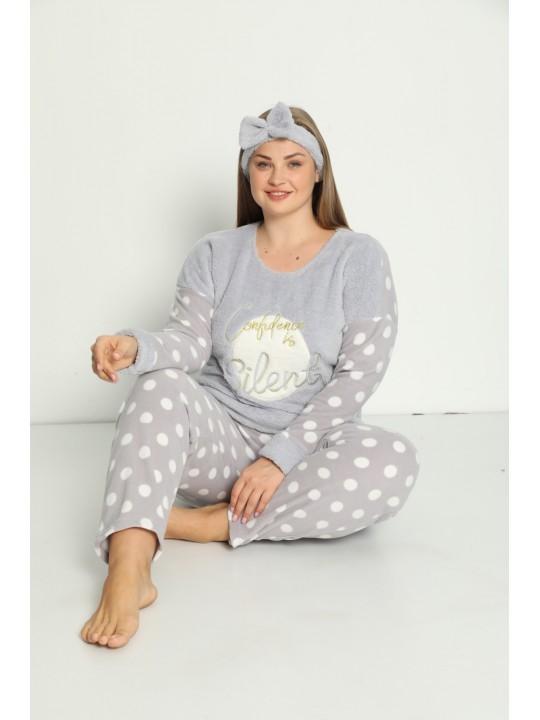 Макси пижама Grey от полар