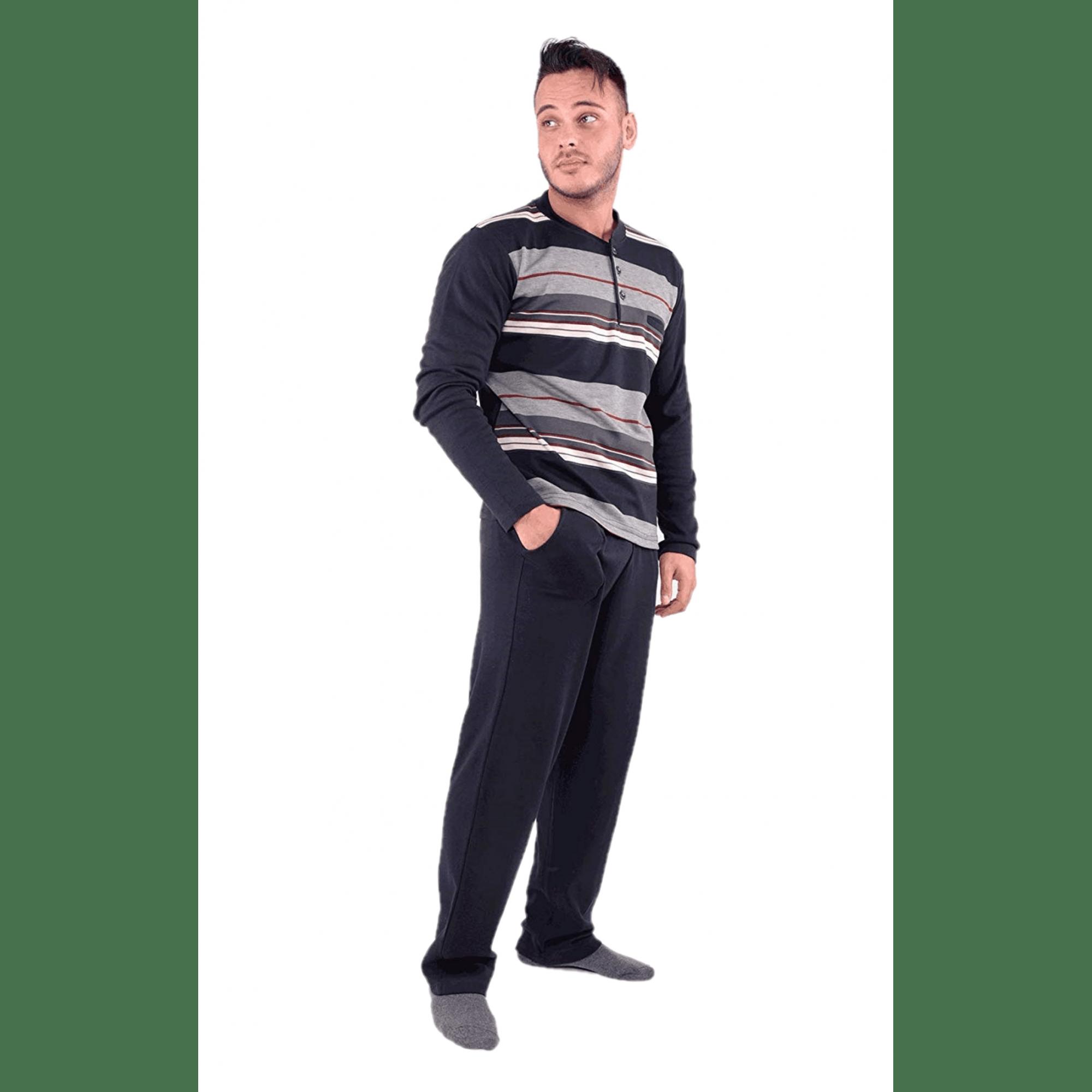 Мъжка зимна пижама от Памук