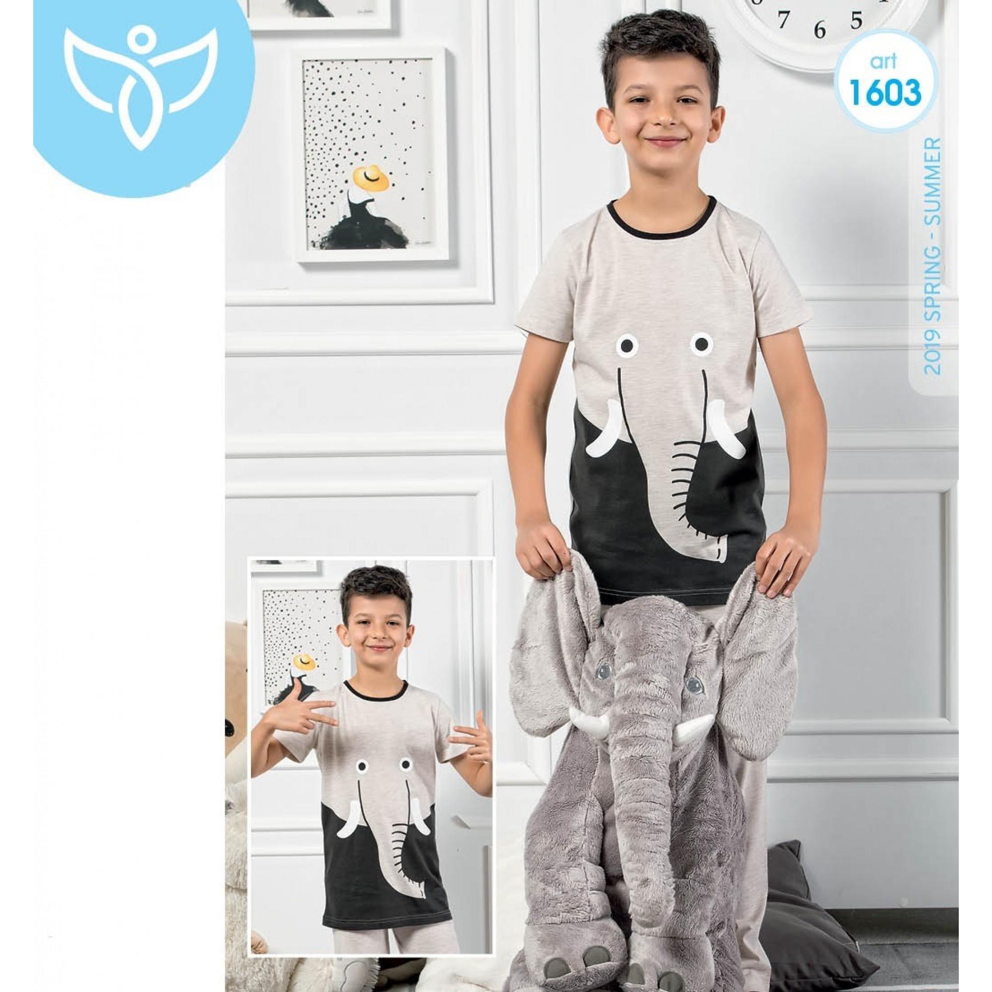 """Детска пижама за момче """"Elephant"""" - 100% Памук"""