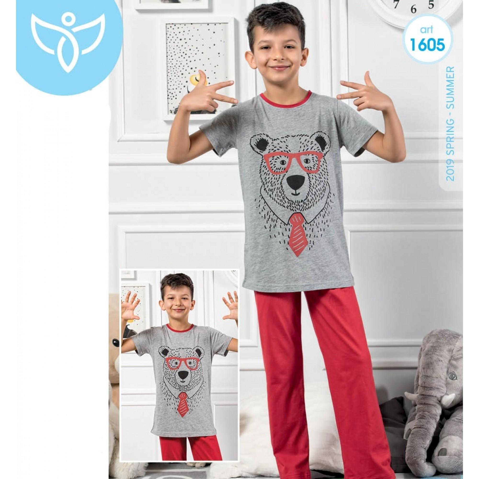 "Детска пижама за момче ""Mr.Bear"" - 100% Памук"
