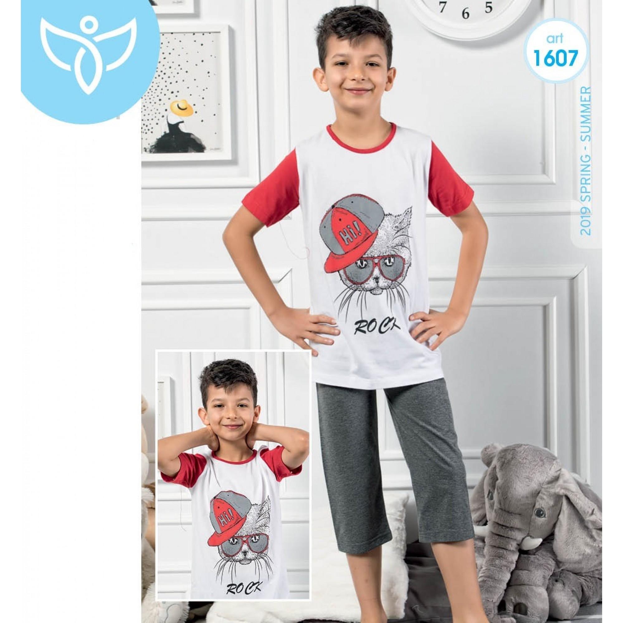 """Детска пижама за момче 3/4 """"Rock"""" - 100% Памук"""