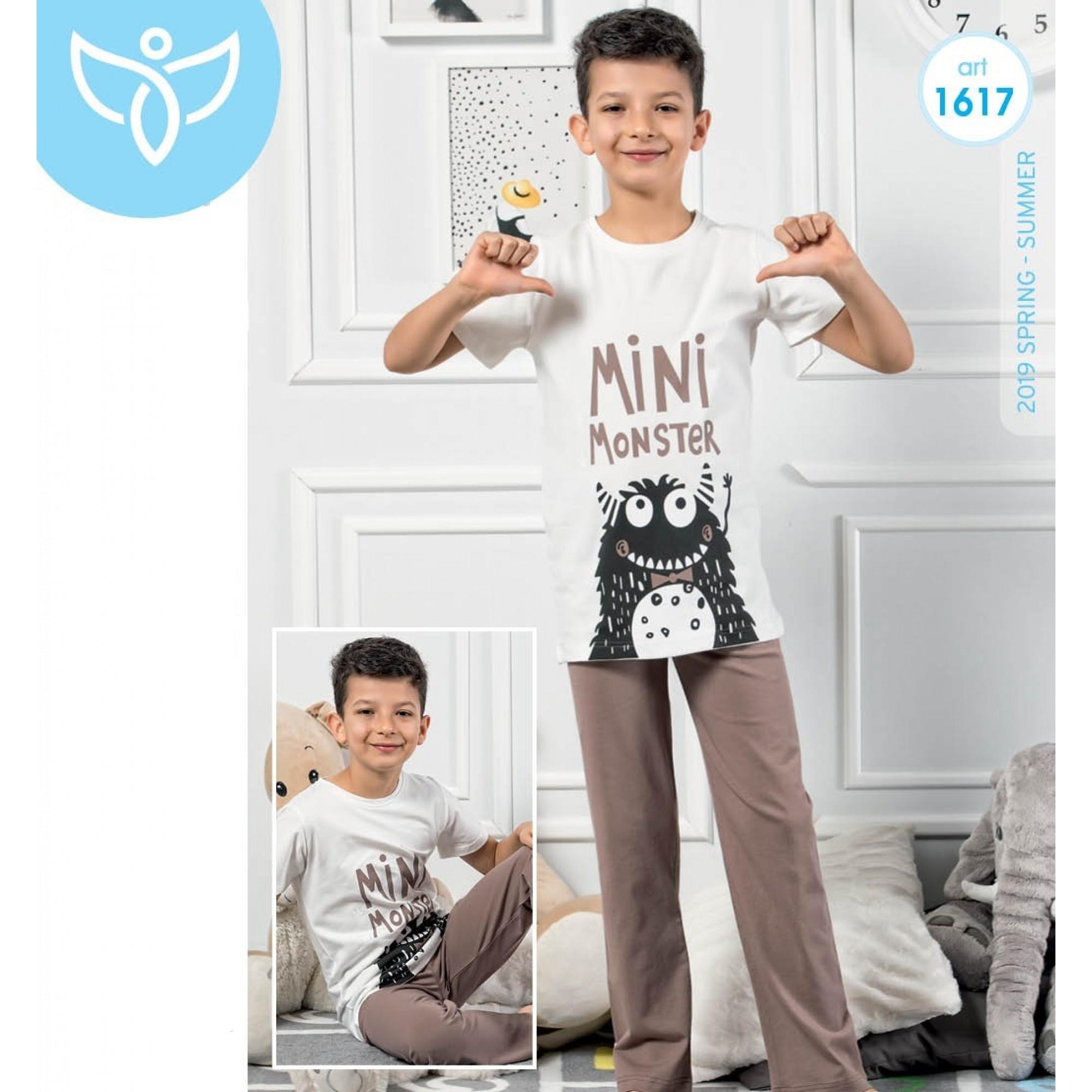 """Детска пижама за момче """"Mini Monster"""" - 100% Памук"""