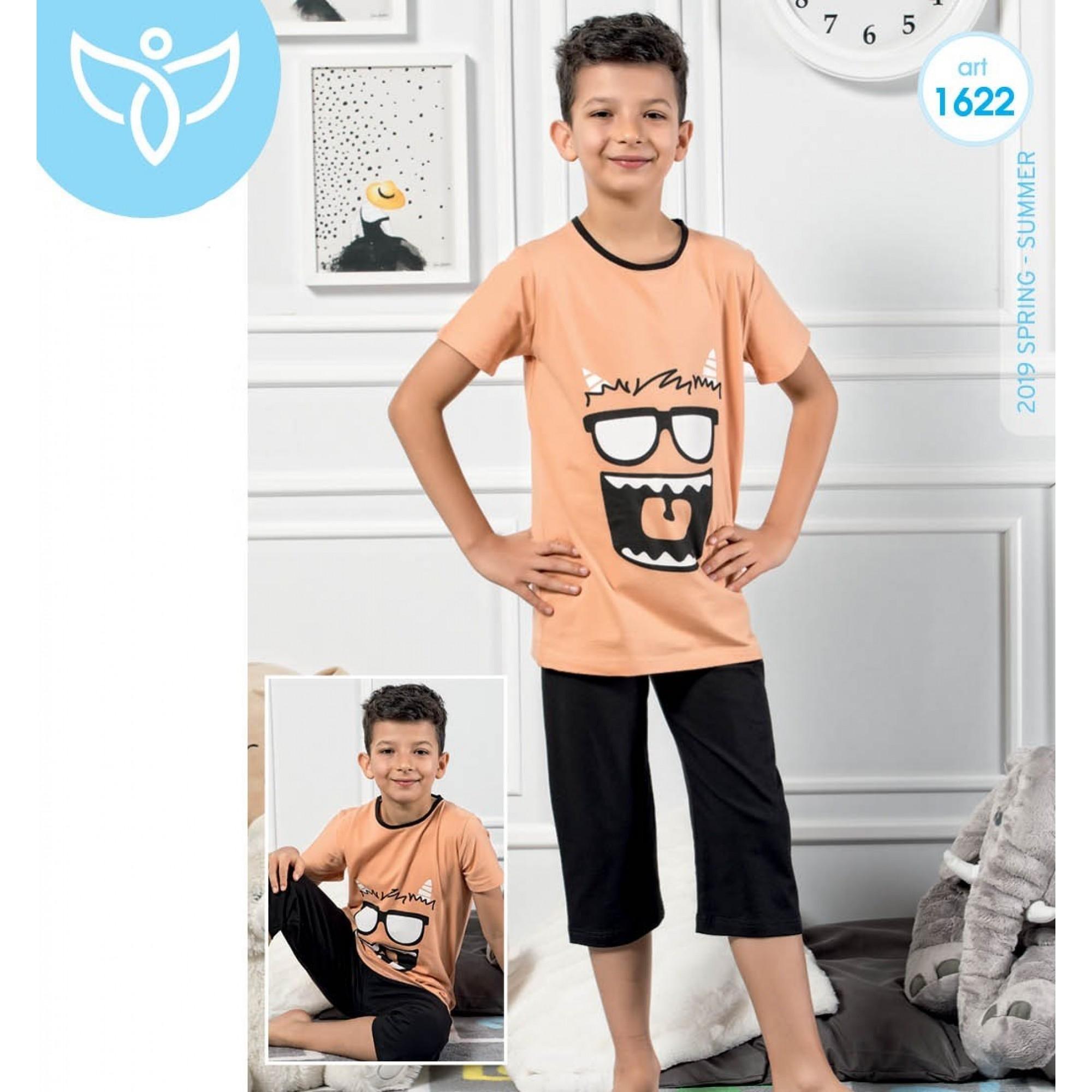 """Детска пижама за момче 3/4 """"Crazy"""" - 100% Памук"""