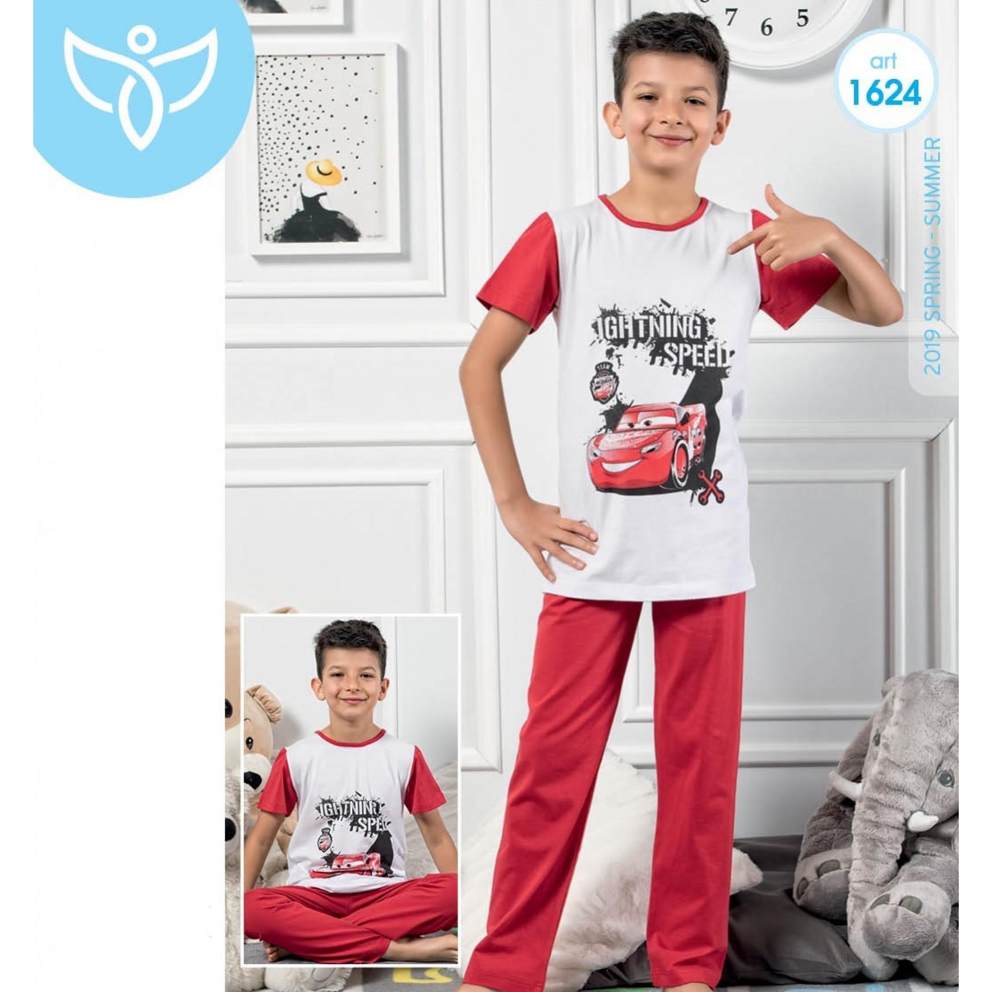 """Детска пижама за момче """"Lighting Speed"""" - 100% Памук"""