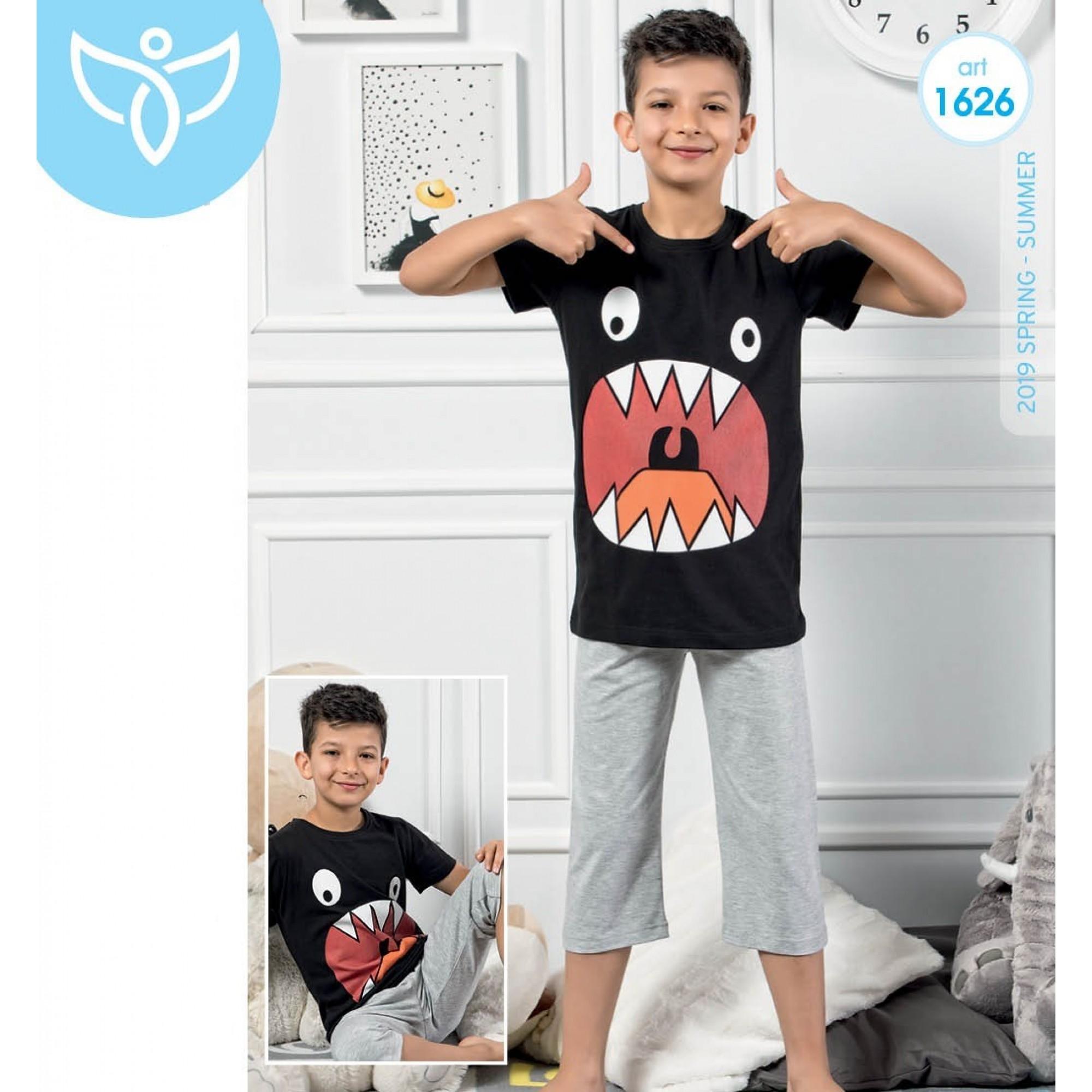 """Детска пижама за момче 3/4 """"Monster"""" - 100% Памук"""