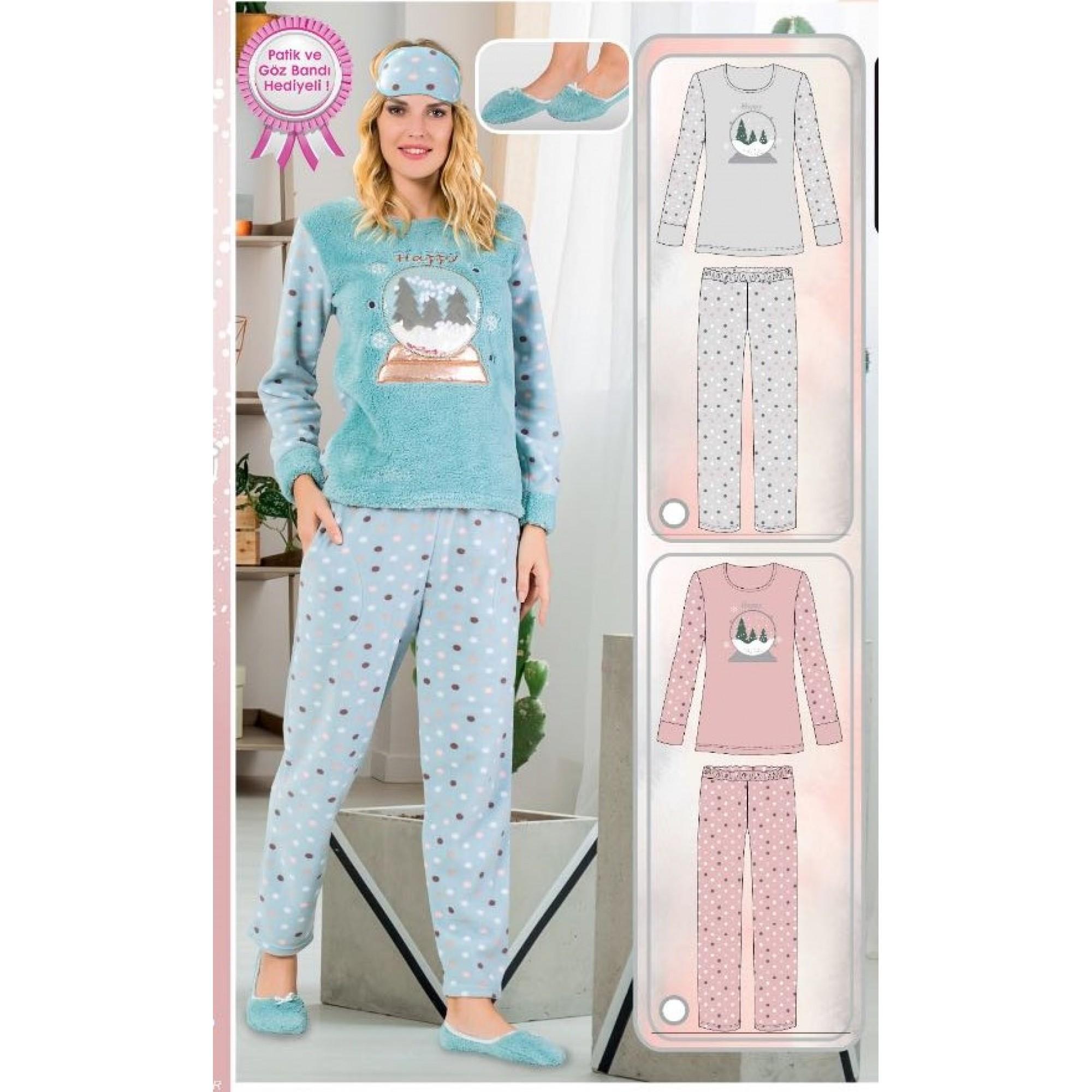 "Дамска пижама ""Сняг"" - Полар"
