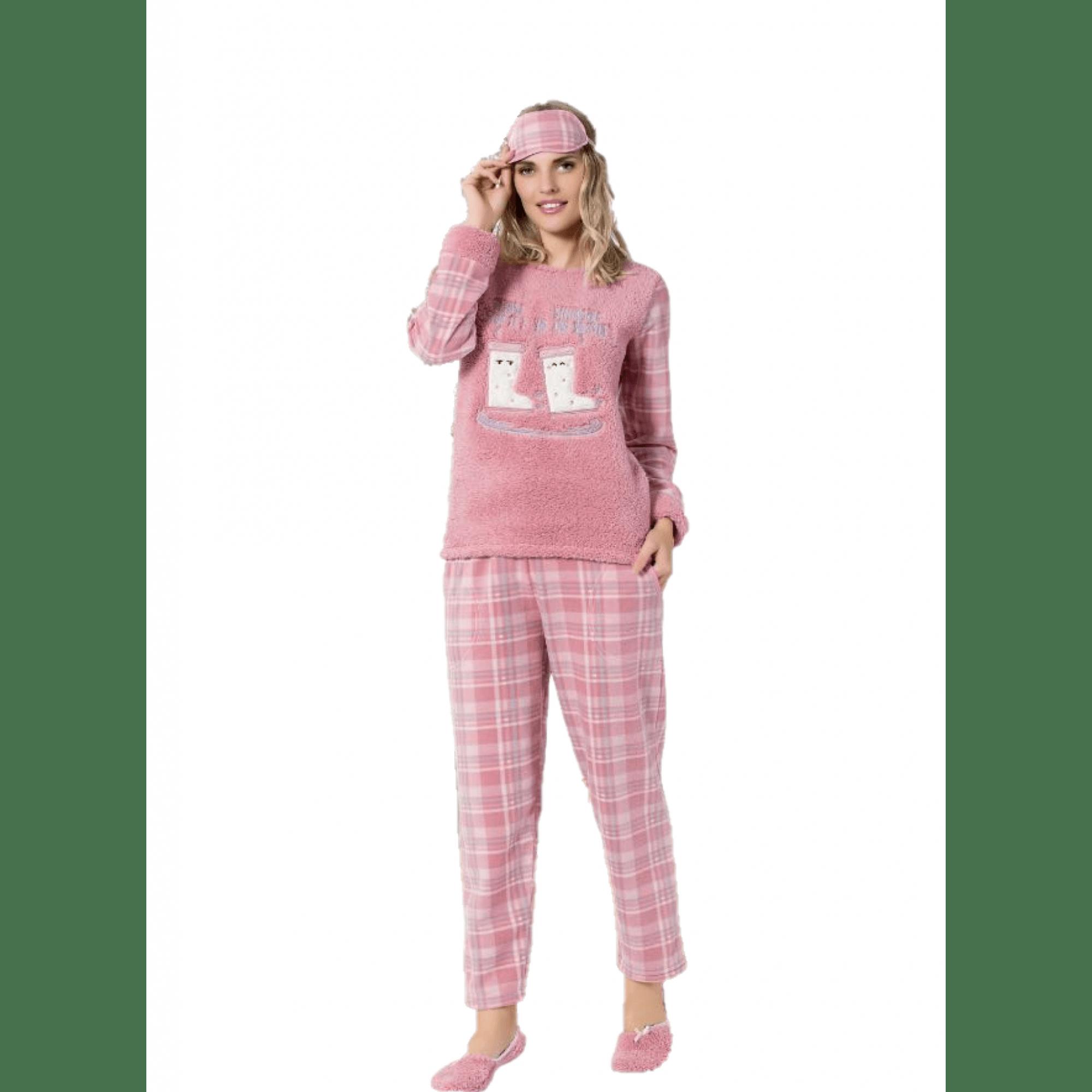 """Дамска пижама """"Кънки"""" - Полар"""