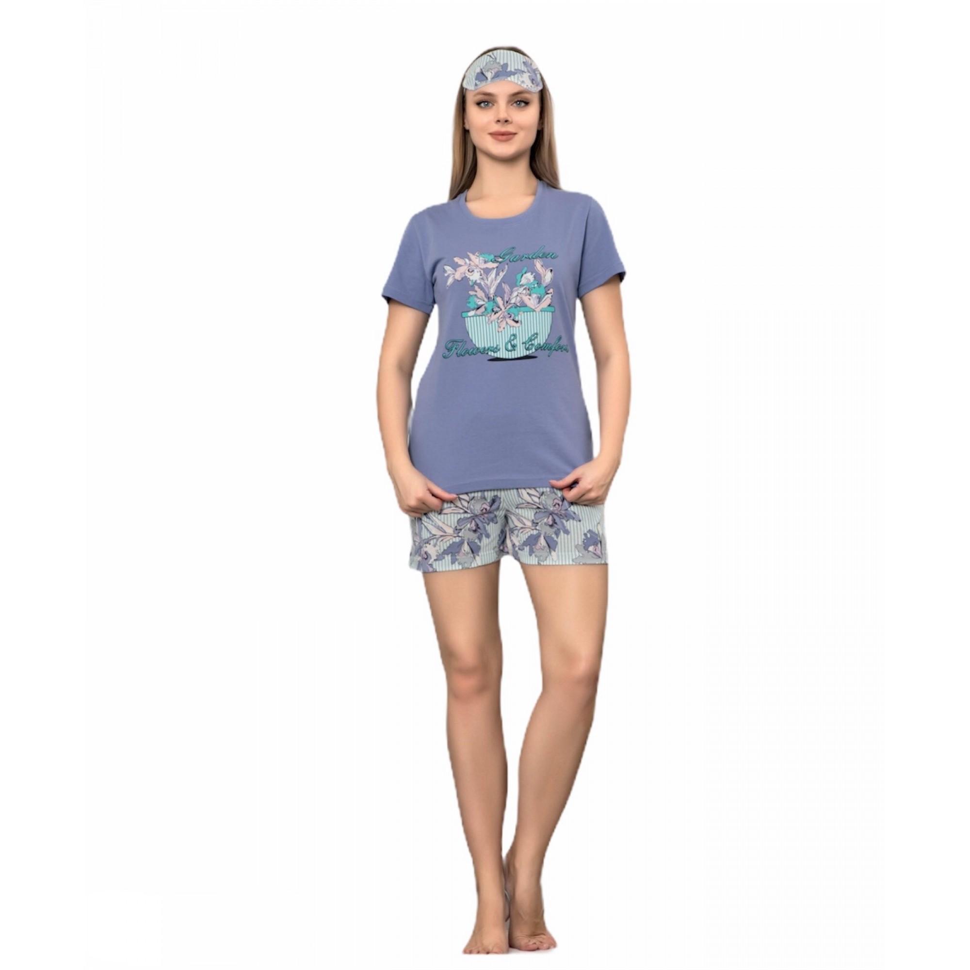 Дамска лятна пижама Цветна