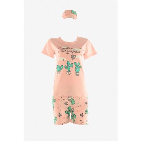 Дамска лятна пижама Кактус