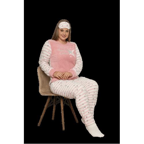 "Дамска пижама ""Луна и Звездичка"" - Полар"