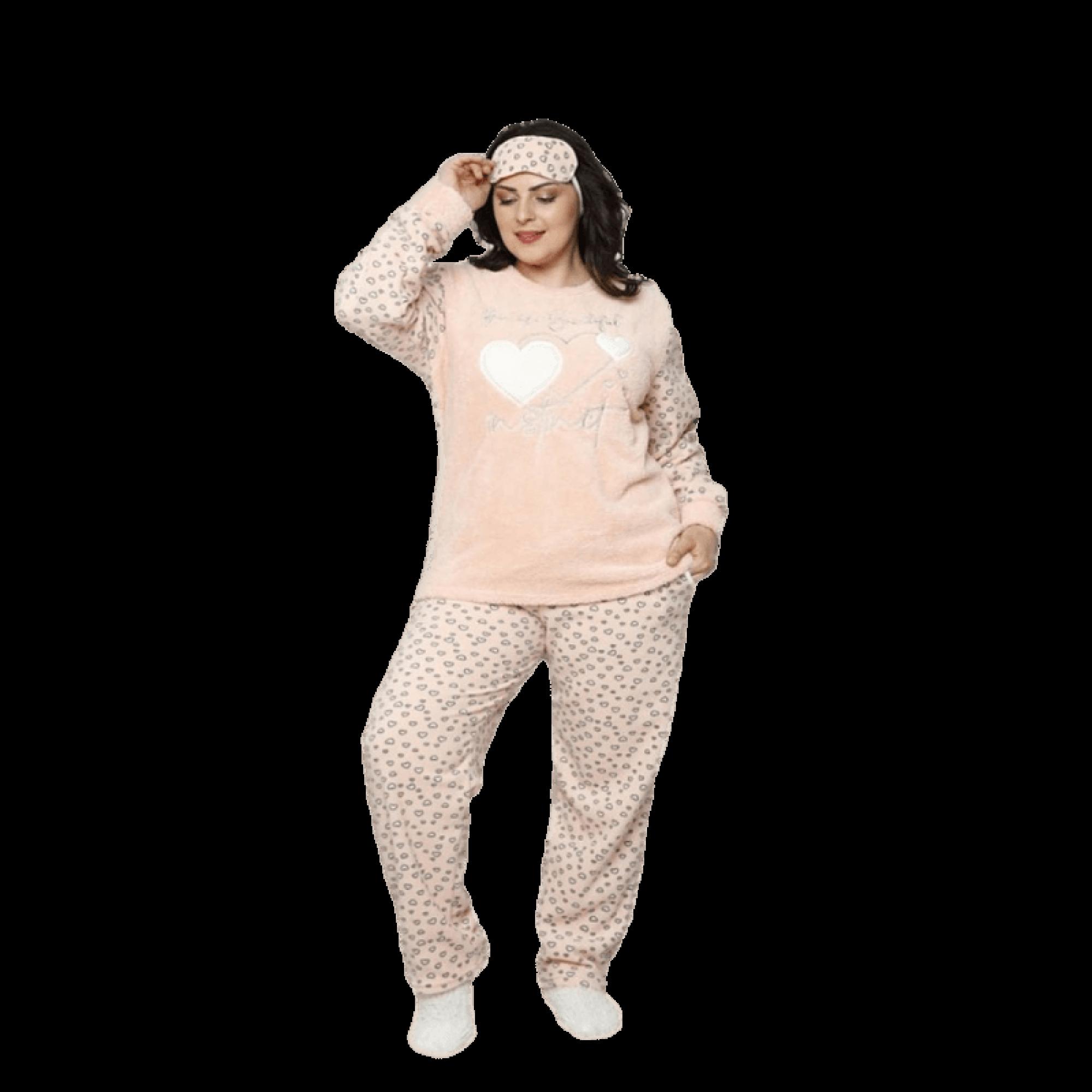 "Дамска пижама ""Heart"" - Полар"
