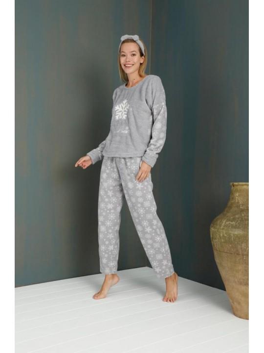 Поларена пижама Снежинка