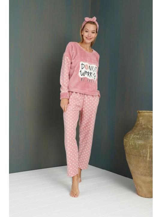 Дамска поларена пижама Donut worry