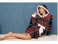 Поларен домашен халат Vintage