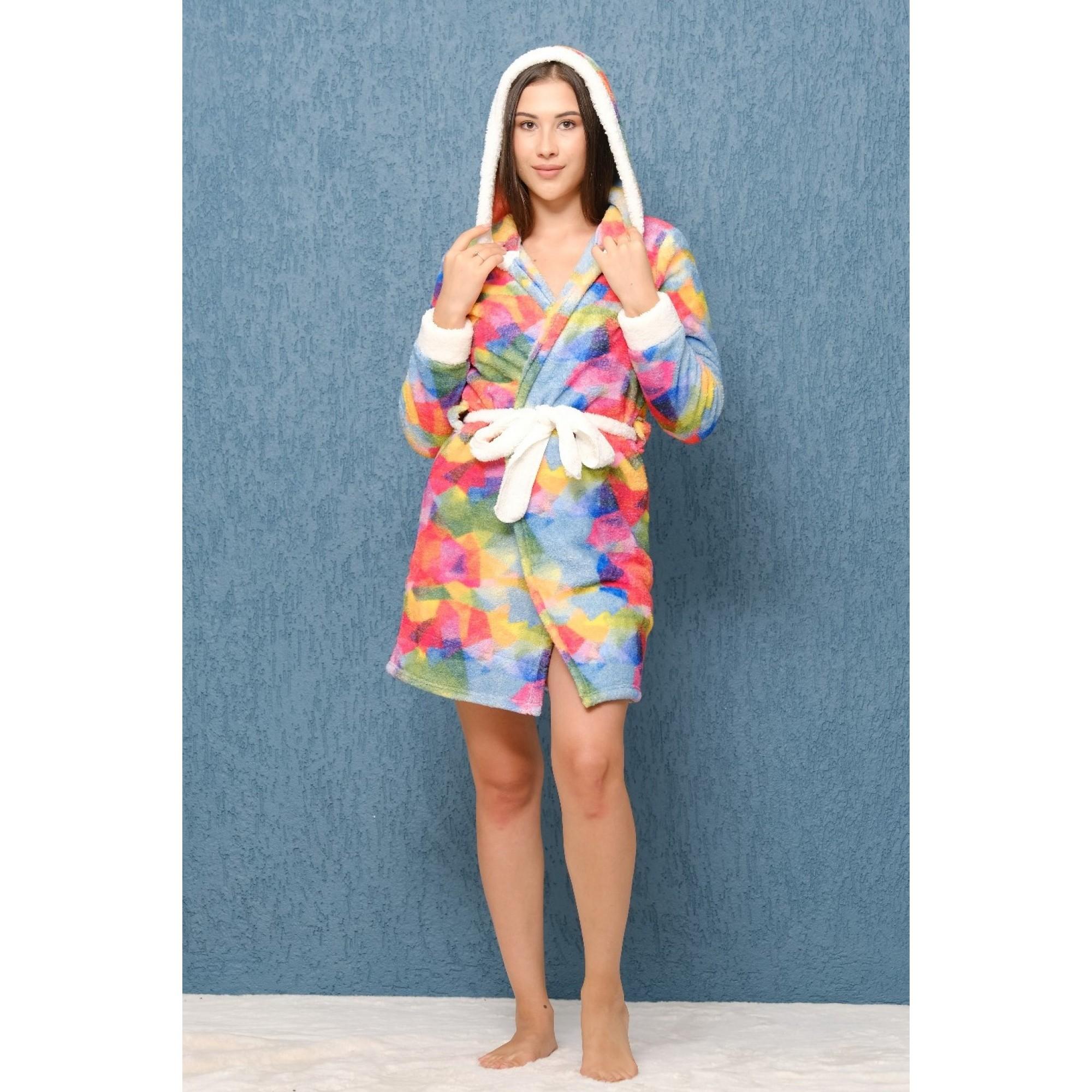 Домашен халат с качулка Rio