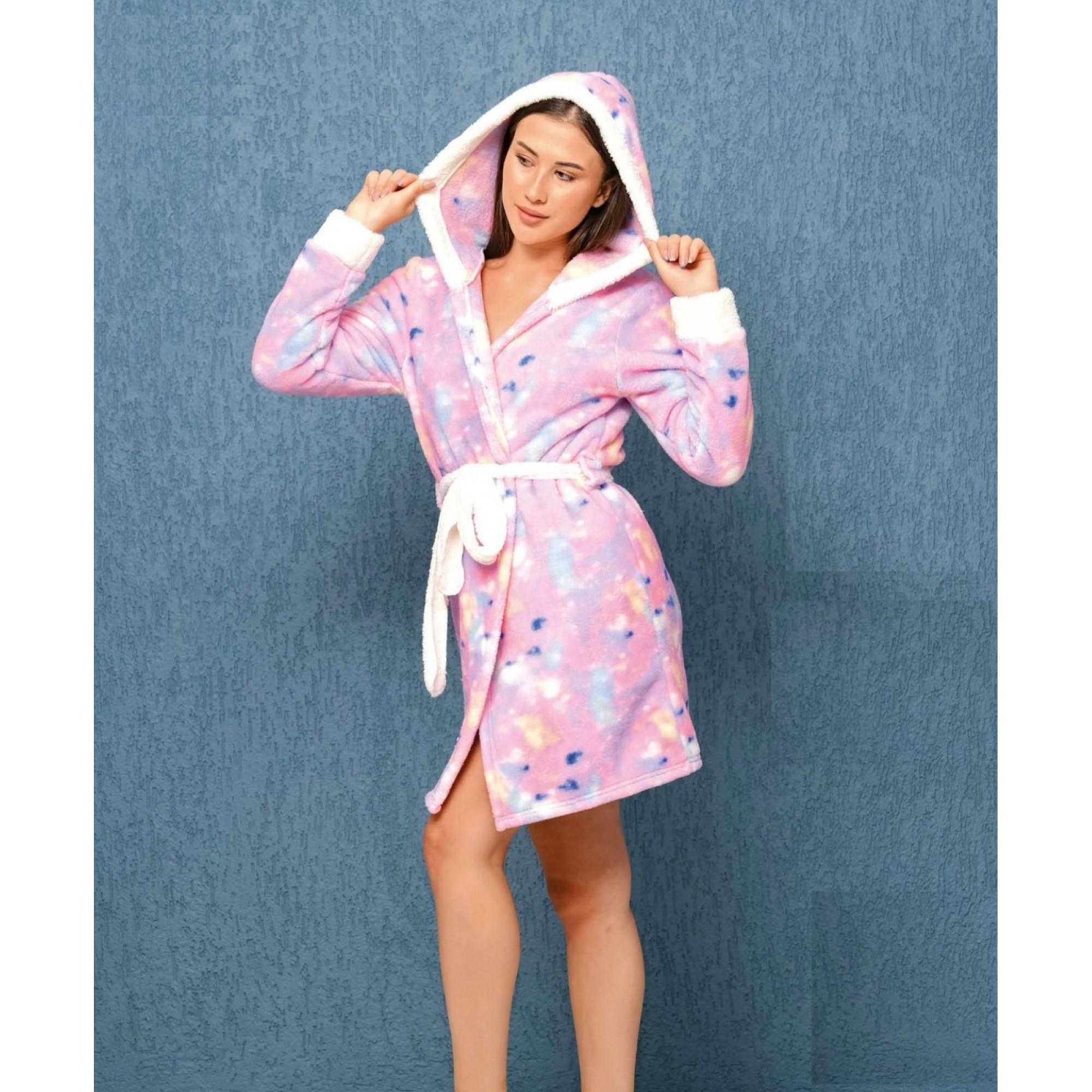 Домашен халат Colorful от полар