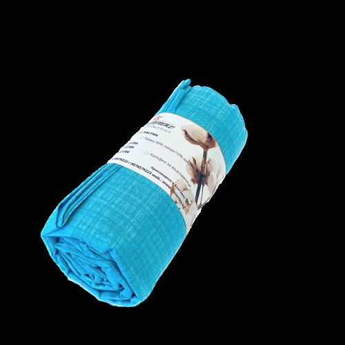 Чаршаф с ластик в комплект с калъфки Turquoise