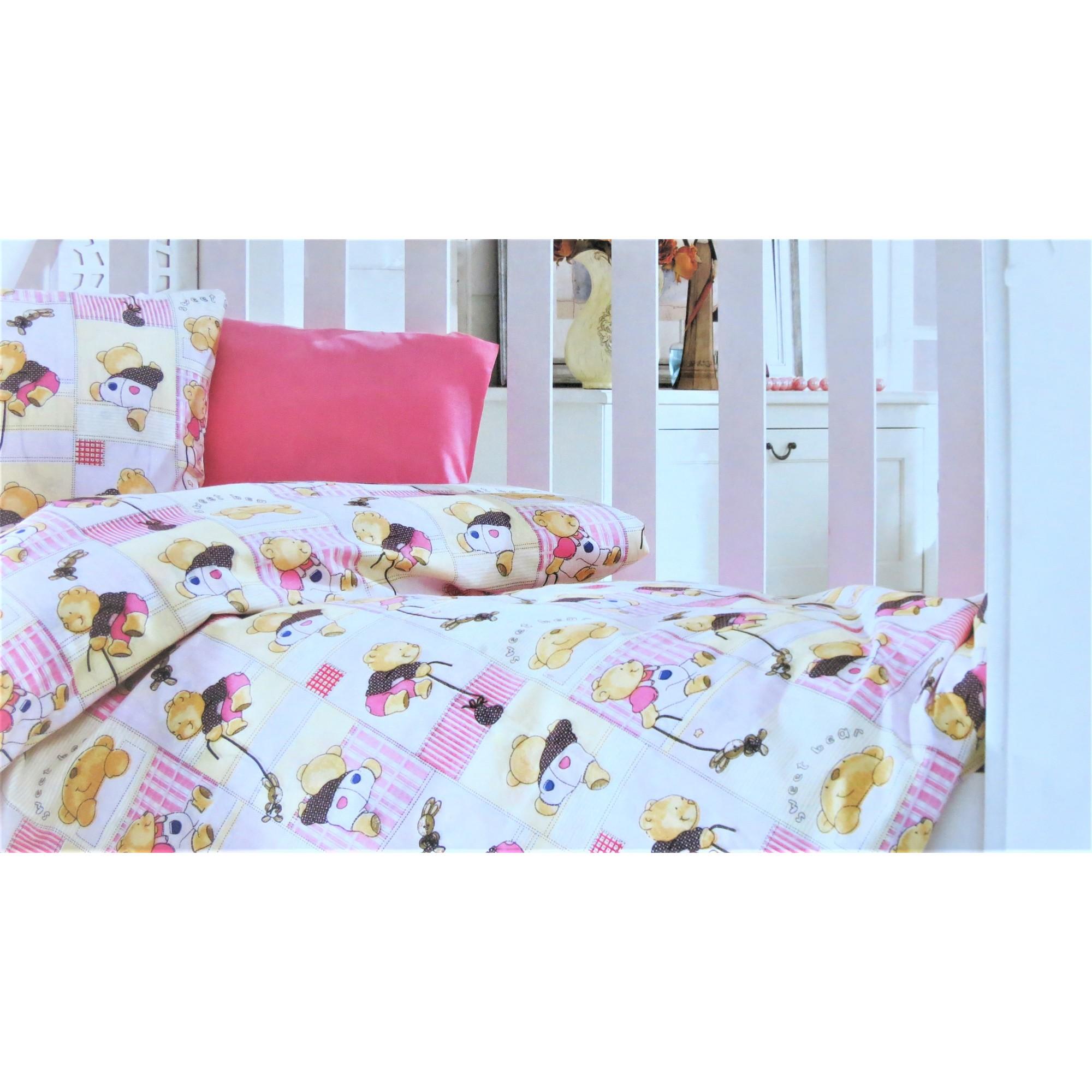 Спално бельо от Ранфорс за бебе Sweet Little Bear