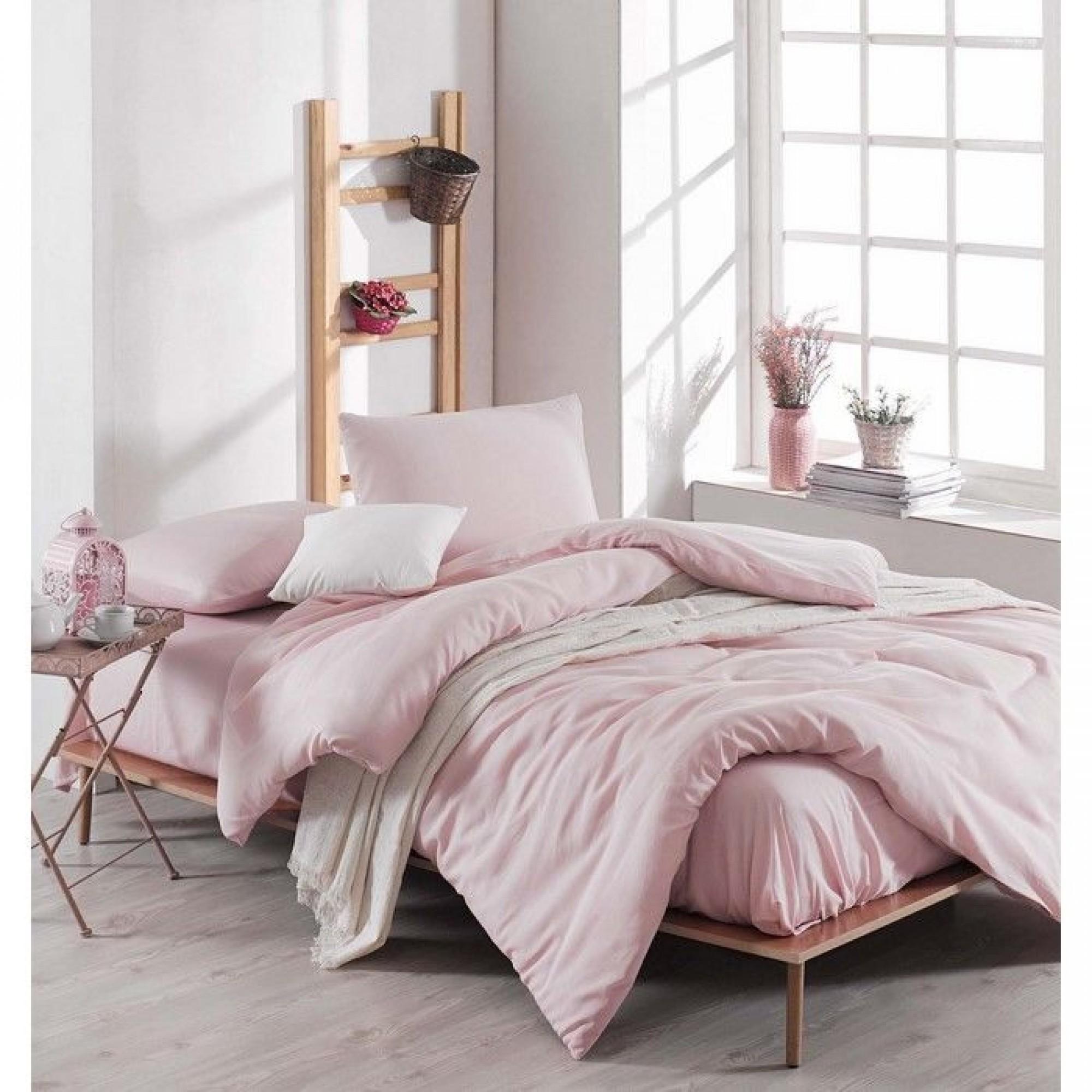"Спален комплект ""Pearl Pink"" Ранфорс - 100% Памук"