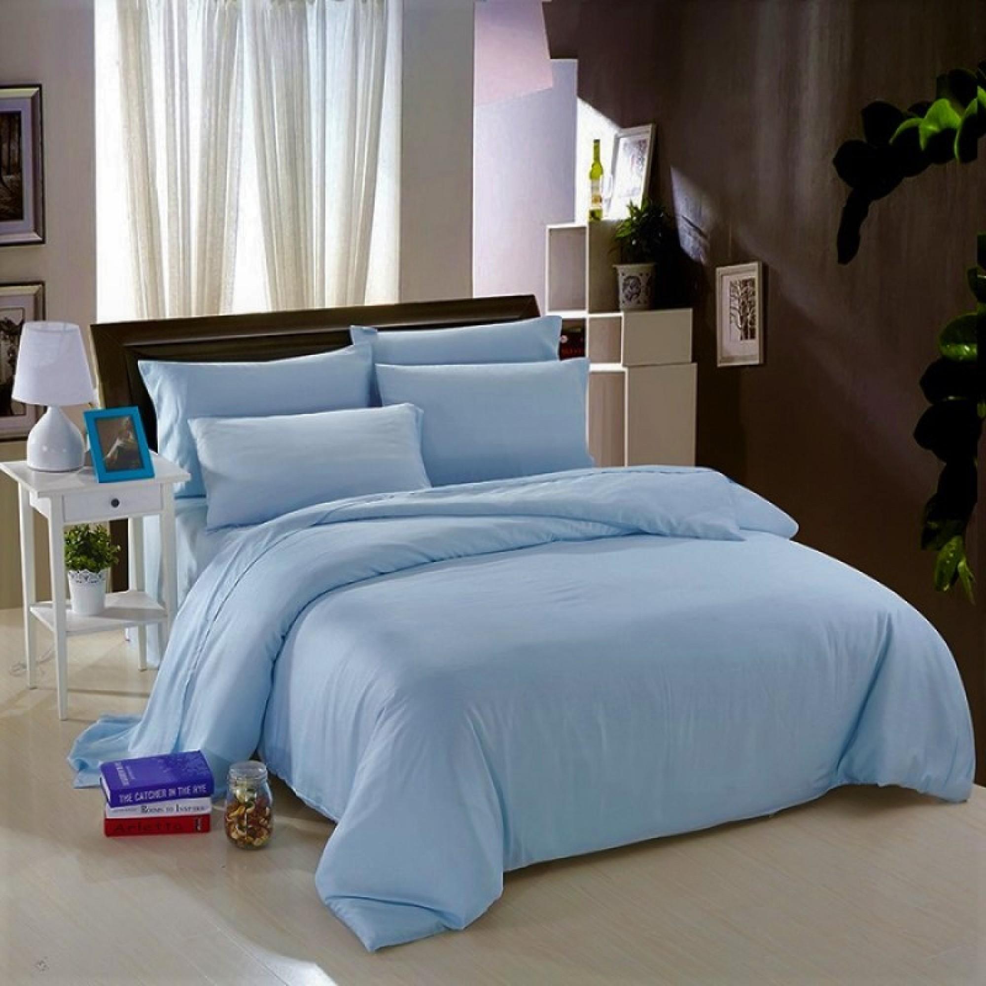 Спално бельо от Ранфорс 100% Памук в синьо
