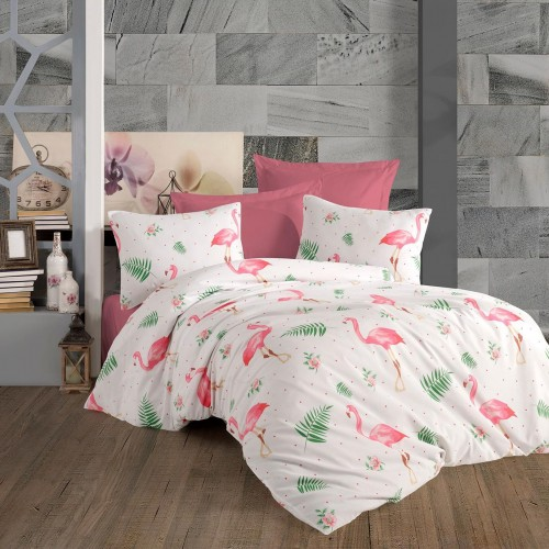 Спално бельо от ранфорс Flamingo
