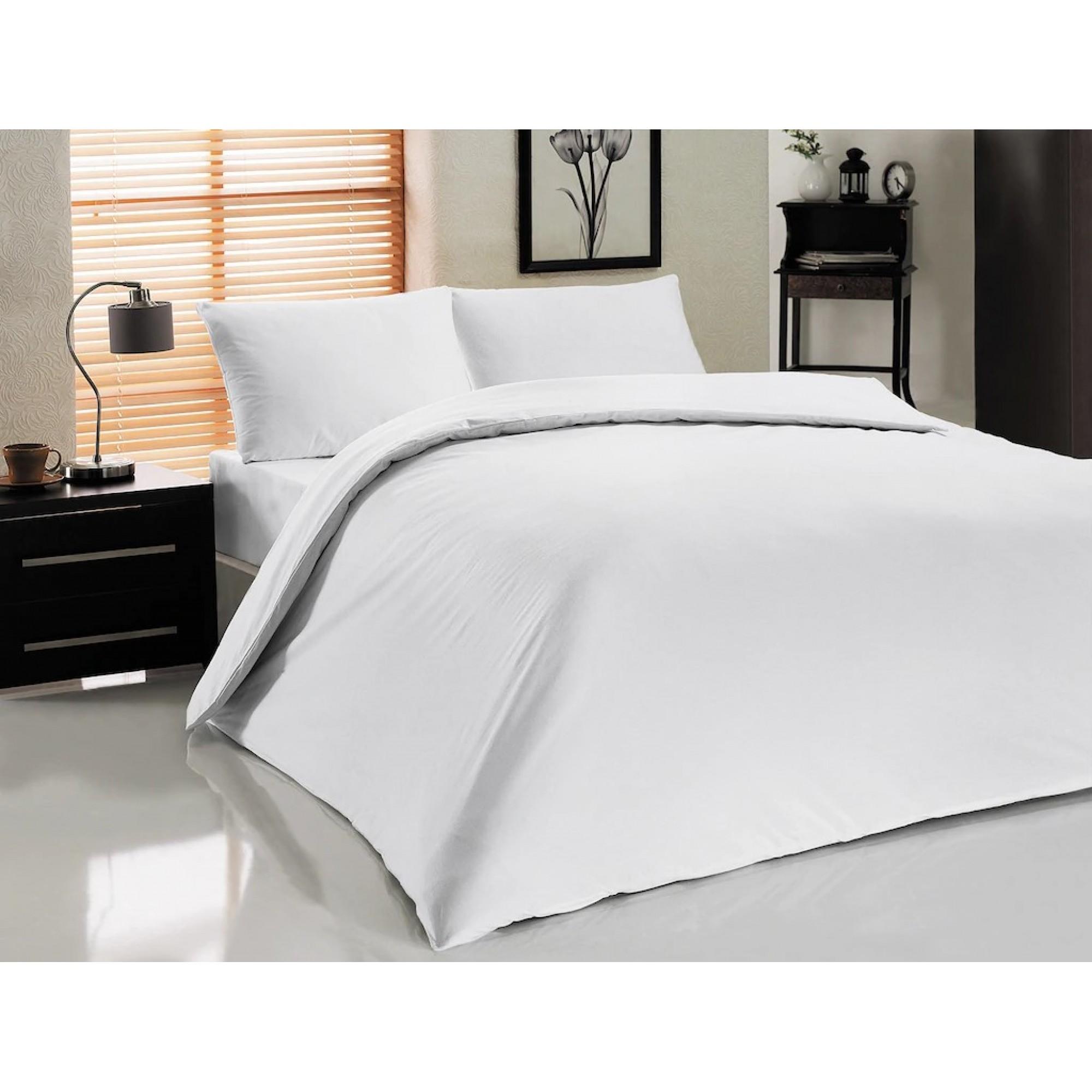 Хотелски комплект чаршафи WHITE MAGIC от 100% Памук
