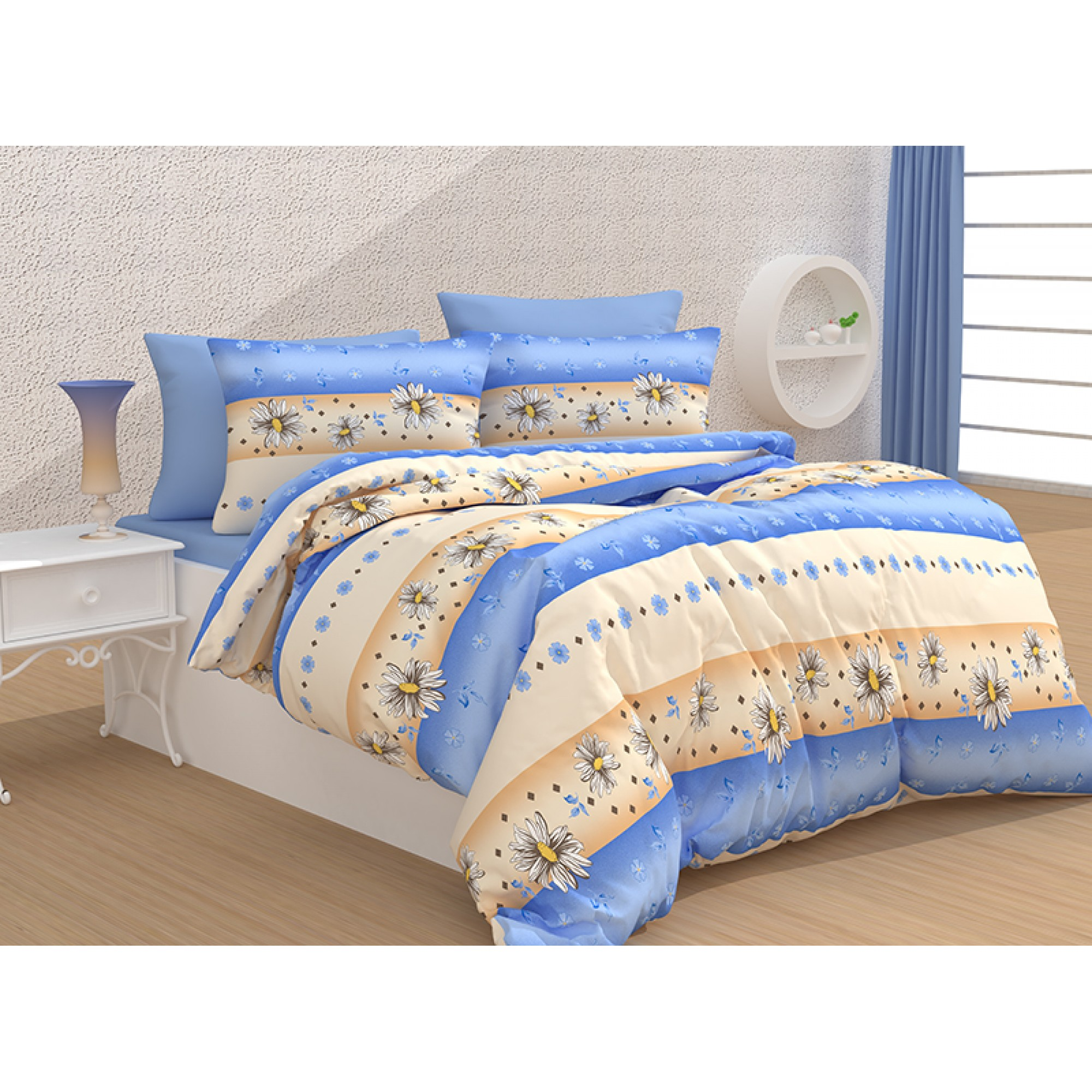 Памучно спално бельо Blue Daisy от КЕТЕРТЕКС