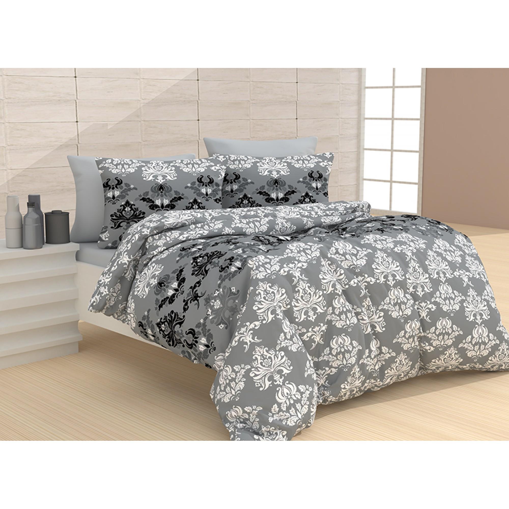Памучно спално бельо Диза в сиво