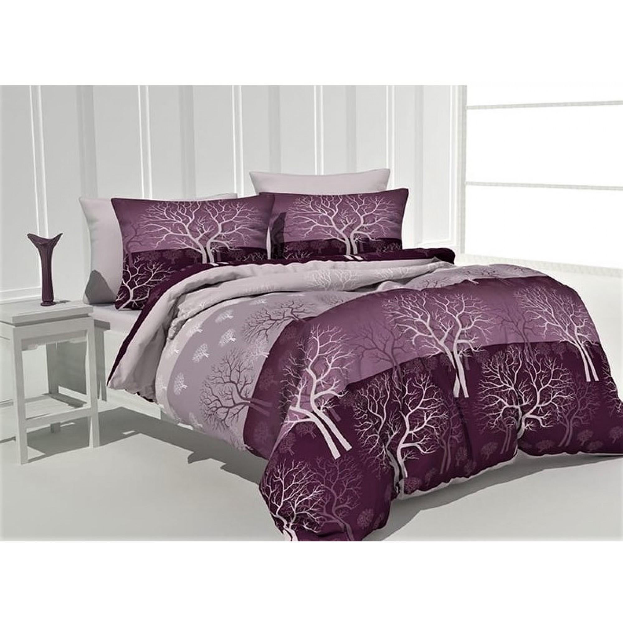 Спално бельо от 100% Памук Дръвче в лилаво