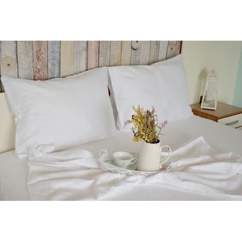 Спално бельо от памучен сатен White Label